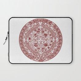 Aztec Calendar // Maroon Laptop Sleeve