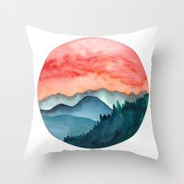 Mini dreamy landscape II Throw Pillow