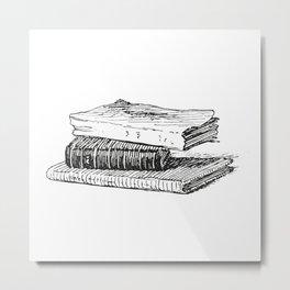 Books 3 Metal Print