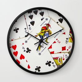 Joker In The Pack Wall Clock