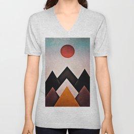 mountain-194 Unisex V-Neck