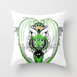 Smoking JungleJade Dragon Throw Pillow