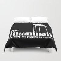 illuminati Duvet Covers featuring The Illuminati by RooDesign