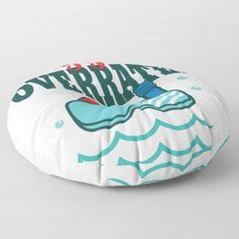 Oxygen Is Overrated Funny Scuba Diving graphic Floor Pillow