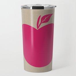 Giant Bright Pink Apple Travel Mug