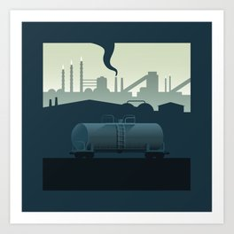 The Lonely Tanker Art Print