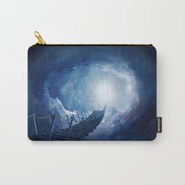 Fantasy bridge in the space. 3D rendering Carry-All Pouch