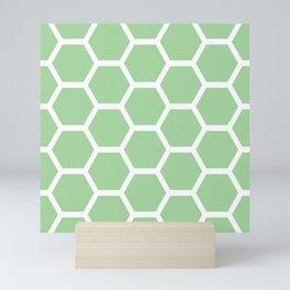 Mint Honeycomb Mini Art Print