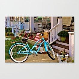 Americana at the beach Canvas Print
