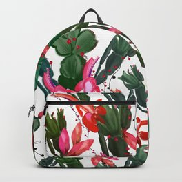 Schlumbergera Christmas cactus pattern Backpack