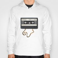cassette Hoodies featuring Cassette by Word Parlor