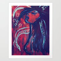 Swimming. Art Print
