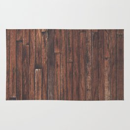 Cherry Stained Wood Barn Board Textue Rug