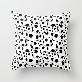 Soccer Pattern | Goal Score Stadium Champion Throw Pillow
