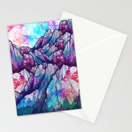 Colour tone peaks Stationery Cards
