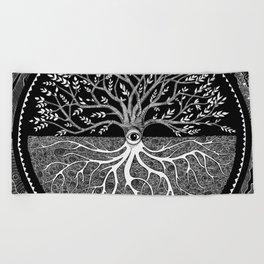 Druid Tree of Life Beach Towel