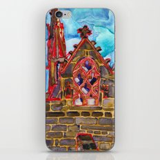 lit up in red iPhone & iPod Skin