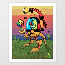 Odd Reynbow Encounter Art Print