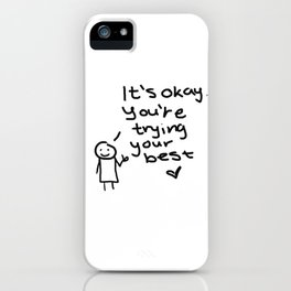 """It's okay"" Doodle iPhone Case"