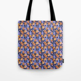 Daffodil Days in Navy Tote Bag