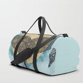Sunset Whale Duffle Bag