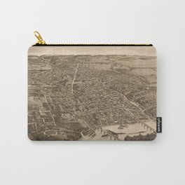 Vintage Print - Bird's Eye View of Knoxville, Tennessee, 1886 Carry-All Pouch