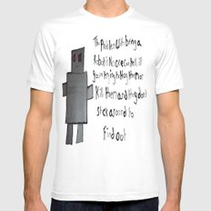 Robot Problems Mens Fitted Tee SMALL White