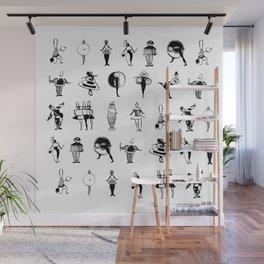 Bauhaus Costume Parties in Ink (Oskar Schlemmer 1924-1926) Wall Mural