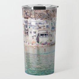 Azure water in Cefalu Travel Mug