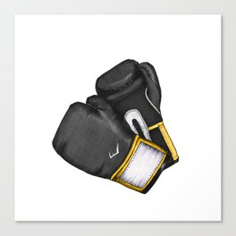 For the love of Boxing // BLACK & YELLOW Canvas Print