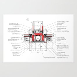 Real architectural detailed knot Art Print
