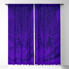savannah cat portrait vabp Blackout Curtain