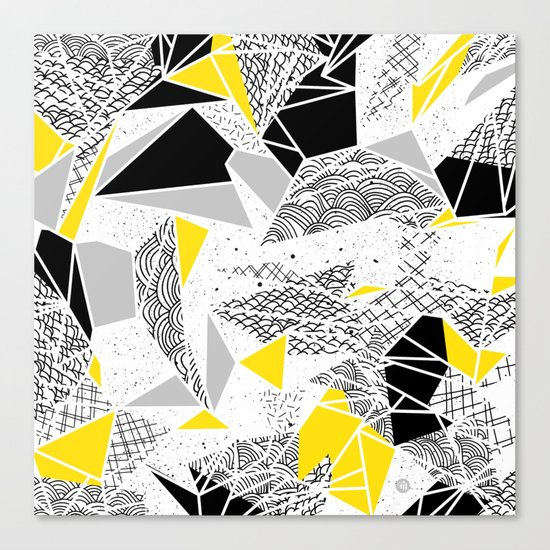 Geometric abstract textures Canvas Print