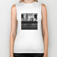 edinburgh Biker Tanks featuring Shop window Edinburgh by RMK Creative