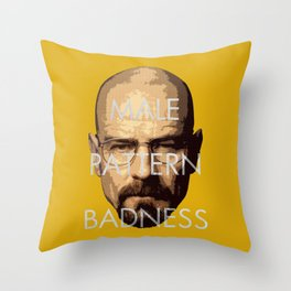 Male Pattern Badness Throw Pillow