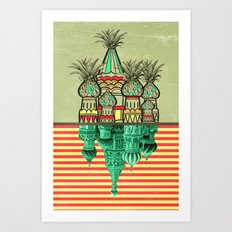 Pineapple architecture  Art Print
