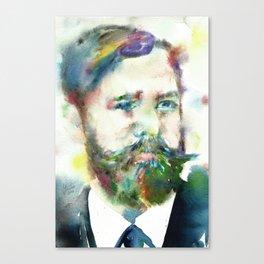 SIGMUND FREUD - watercolor portrait.1 Canvas Print