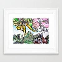 fawn Framed Art Prints featuring Fawn by Dawn Patel Art