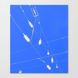 Electro-Blue Power Canvas Print