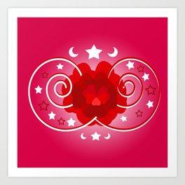 Flower of hearts Art Print