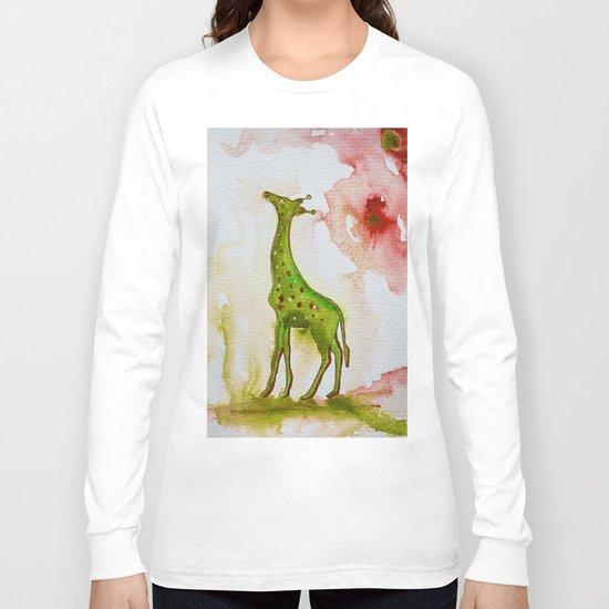 Green giraffe Long Sleeve T-shirt