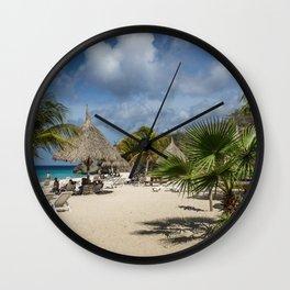 Curacao - Caribbean Island Beach Scene Wall Clock