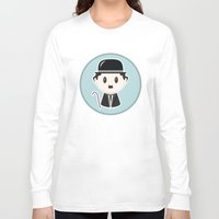 charlie chaplin Long Sleeve T-shirts featuring Charlie Chaplin by Cloudsfactory