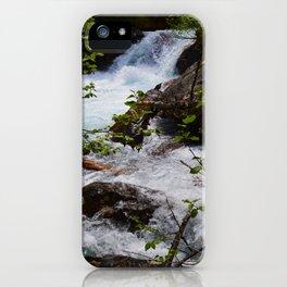 Geraldine Waterfall located in Jasper National Park iPhone Case