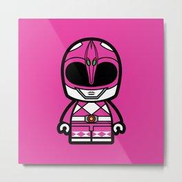 Power Chibi Pink Ranger Metal Print