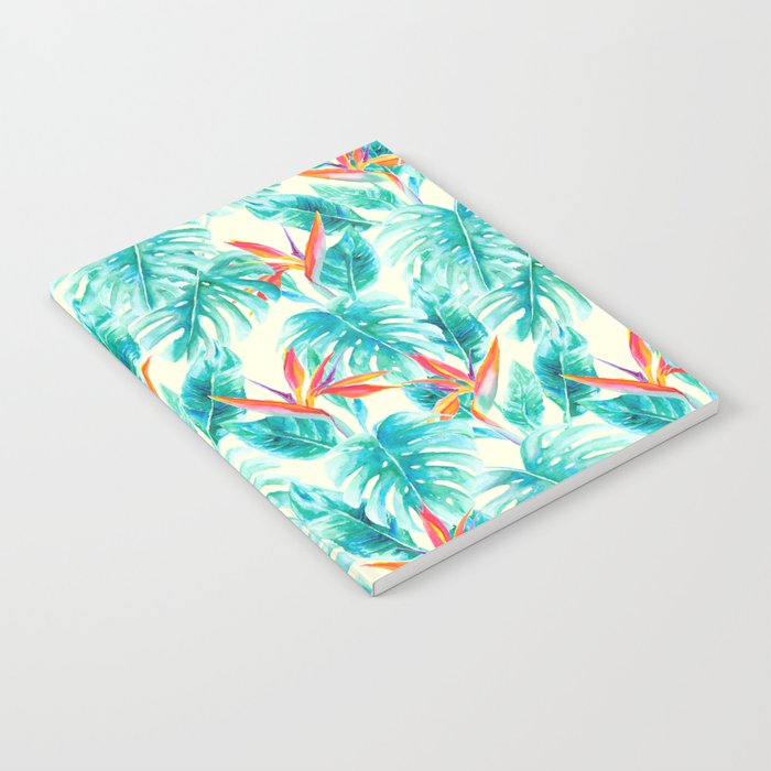 Tropical Paradise Pale Yellow Notebook