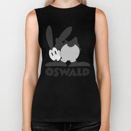 Oswald the Lucky Rabbit: The End (B/W) Biker Tank
