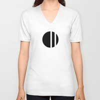 stripe V-neck T-shirts featuring Stripe by HOONA