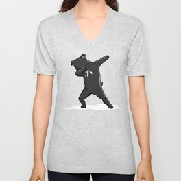 Funny Dabbing Staffordshire Bull Terrier Dog Dab Dance Unisex V-Neck
