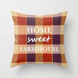Burlap & Home Sweet FarmHouse Throw Pillow